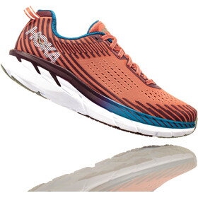 Hoka One One Clifton 5 Running Shoes Women Emberglow/Fig